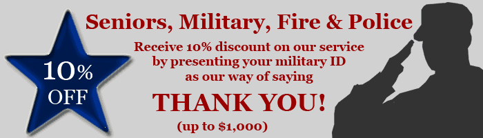 Military Fire Police Seniors Discount